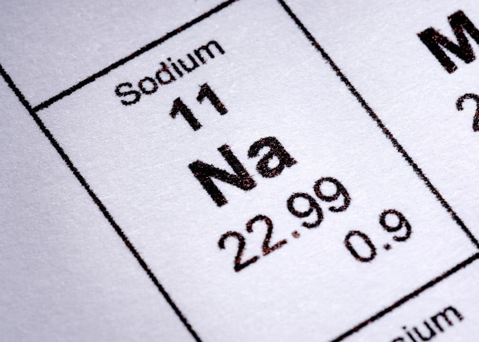 Sodium on Periodic Table of Elements